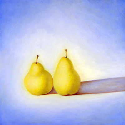 Pears in Light and Shadow II